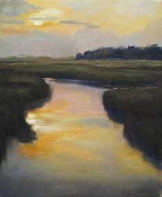 """Sunset on the Marsh""  (oil),  This has such a South Carolina feel, just love it"
