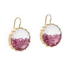Genuine Ruby Gemstone 18k Solid Yellow Gold Shaker Earrings Handmade Jewelry NEW…