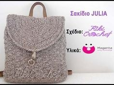 A beautiful backpack that has been crocheted on a leather base, using one of the prettiest stitches, the shell stitch! A big thanks to the store Magenta Art. Crochet Handbags, Crochet Bags, Stitch Backpack, Crochet Boarders, Crochet Videos, Crochet Projects, Straw Bag, Bag Accessories, Pouch
