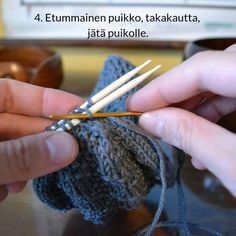 Silmukoimalla päätteleminen - kaksi tapaa - Neulovilla Knitting Projects, Knitting Ideas, Blog, Diy, Bricolage, Blogging, Do It Yourself, Fai Da Te, Diys