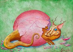 Temeraire baby dragon print by Kyra Wilson by KyraWilson on Etsy