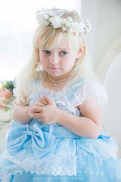 子供ドレス レース&オーガンディーのロマンティックドレス 結婚式 発表会