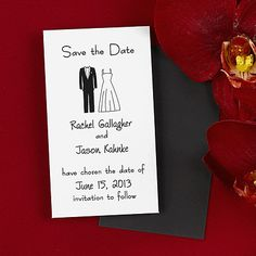 Save the Date Black-Tie Magnet