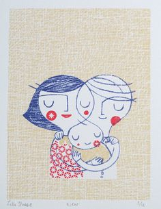 how fresh and lovely and just plain sweet. perfect for a new family.   etsy: lisastubbs