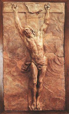 Pierre Puget -, Christ Dying on the Cross - Terracotta, Musée du Louvre, Paris. Religious Icons, Religious Art, Pierre Puget, 3d Cnc, Jesus Art, Wood Carving Art, Jesus Pictures, Catholic Art, Sacred Art