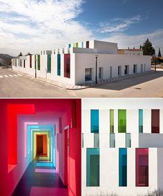 Preschool for children up to age 3 in Granada, Spain, by Alejandro Munoz Miranda. http://www.architecturenewsplus.com/projects/1761