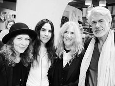 """Ann Demeulemeester book signing with a live performance by Patti Smith and PJ Harvey at Dover Street Market, London"""" by Flo Kohl via purple. Patti Smith, Alison Mosshart, Shirley Manson, Annie Clark, Women Of Rock, Louise Brooks, Florence Welch, Women In Music, Joan Jett"""