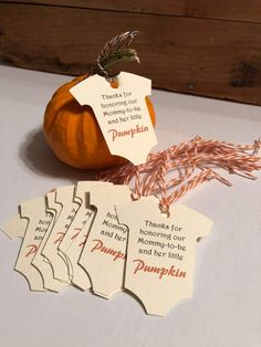 """Baby Onesie - """"Little Pumpkin"""" Perfect for fall baby showers!"""