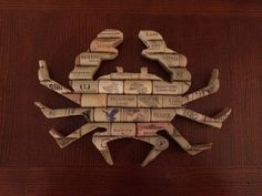 12 wine cork crab by NOLACorkCreations on Etsy