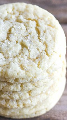 Bakery Style Sugar Cookies Recipe ~ They have a nice crisp edge and a little chew in the middle
