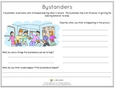 Bystanders have a lot of power in helping to stop bullying! Help kids explore what they can do to be effective bystanders whenever they see bullying occur.  #bullying #bystanderintervention #copingskills #reporting #mylemarks #bullyingresources