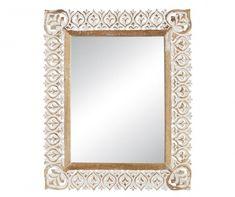 Freya Tükör White Wood, Wood Wall, Oversized Mirror, Frame, Furniture, Home Decor, White Wood Walls, Picture Frame, Decoration Home