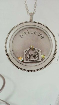 Look at this tiny nativity! LOVE IT! Can't wait until the 15th  when we can order the new Origami Owl Holiday line! www.allymccombs.origamiowl.com #origamiowl #holidayideas #holiday #nativity #giftidea #celebratetheseason