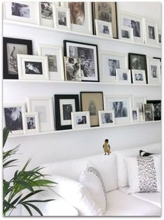 Shelved gallery wall