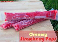 Creamy Strawberry Pops