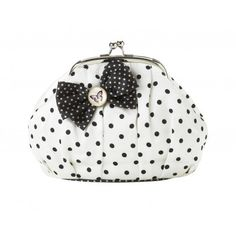 Pretty Cosmetics bag with dots and a lovely bow in black by Lisbeth Dahl Copenhagen Spring/Summer 13. #LisbethDahlCph #Black #Bow #Dots #Butterfly