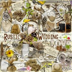 Rustic Wedding scrapbook kit from Raspberry Road Designs.