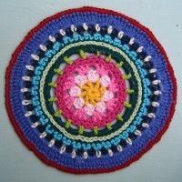 Crochet Mandala Wheel made by Lindsay, Nottingham, UK, for yarndale.co.uk