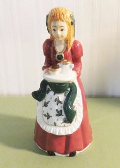 5.75in tall. Wow!!! Vintage Little Girl Christmas Funnel or Pie Bird