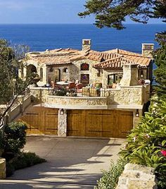 Old world style Beach House I think I could make this work!  Lol - Chrys