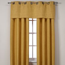 Reina Window Panels - Looks like burlap, but no bad odor.  I made one of these into a tablecloth for Thanksgiving.  Looks great and hangs well.