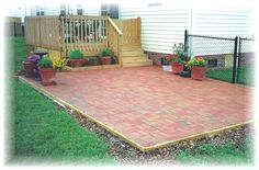small deck patio; would prefer a curved shape