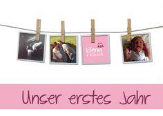 Designbeispiel... eine meiner Kreationen an individualisierten Mami-Baby-Tagebüchern für DaWanda anlässlich der Geburt von Elena