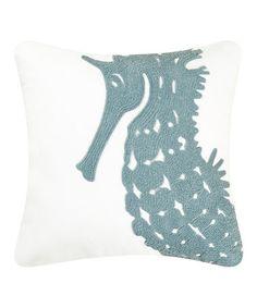 Seahorse Rice Stitch Pillow #zulily #zulilyfinds