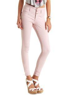 """Refuge """"Hi-Waist Super Skinny"""" Colored Jeans: Charlotte Russe"""