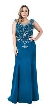 Vestido Sereia com Bordado Anafi