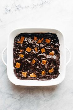 Salted Caramel Brownies Recipe - Pinch of Yum