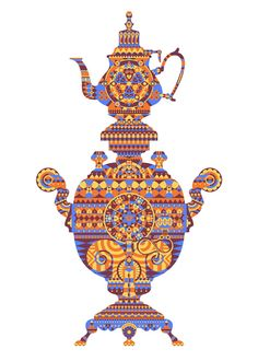 Arab Nights by Matt Lyon /via Jelly, London Popular Paintings, Russian Tea, Types Of Art, Drinking Tea, Tea Party, Turtle, Doodles, Arts And Crafts, Colours