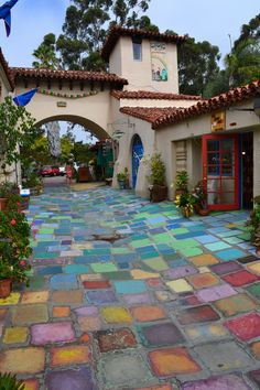 Beautiful handmade tiles. Balboa Park, San Diego