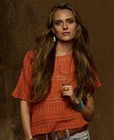 62b42e2da Denim & Supply Ralph Lauren Sweater, Short-Sleeve Open-Knit Denim And Supply