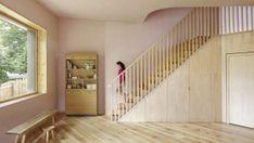 Drei Farben Blau - DEAR Büro - Projekte | dear-magazin.de Stairs, Building, Home Decor, New Construction, Color Blue, Interior, Architecture, Projects, Stairway