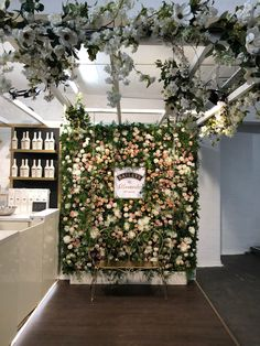 Choosing coral with more pale undertones than orange allows the colour to come alive against fresh white roses and zesty green foliage. Baileys flower wall by Hayford & Rhodes. Live Coral, Winter Night, Blooming Flowers, Beach Holiday, Baileys, Color Of The Year, Chrysanthemum, Rhodes, Carnations