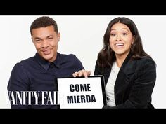 """On this episode of """"Slang School,"""" Gina Rodriguez and Ismael Cruz Córdova teach you Puerto Rican slang words and phrases. Gina and Ismael star in action-thri. Latest Movie Trailers, New Trailers, Latest Movies, Puerto Rican Slang, Sony Pictures Entertainment, Puerto Rican Culture, Gina Rodriguez, Travel Vlog, Welcome To The Jungle"""