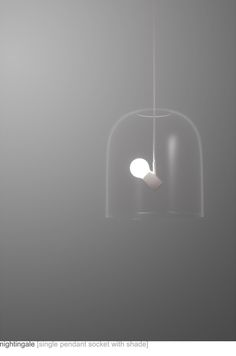 Glass suspension light