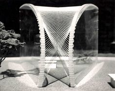 Charles Hutton photographs, preparation for science fair, architectural class model, abstract, 1961