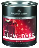 Wodorozcieńczalny lakier akrylowy świecący w ciemności do zastosowań wewnętrznych