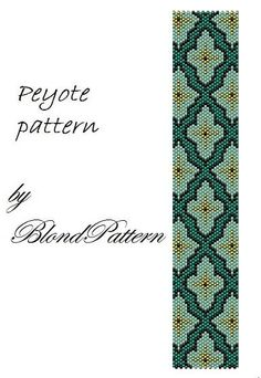 Ornament peyote pattern by BlondPattern on Etsy