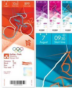 2012 London Olympic Tickets & Pictograms