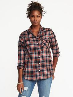 Classic Flannel Shirt for Women