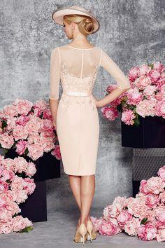 2016 de la envoltura de la cucharada de la madre de la novia vestidos de gasa con apliques y faja de longitud de la rodilla US$ 219.99 VTOP6CQ1J9N - VestidoBello.com for mobile