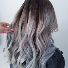Wow this grey balayage/ ombré is AMAZING Love all of the tones in this look. Great job with #RedkenColor @mua_hairstylist_lizz