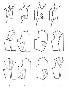Love the double French dart. Add to pattern with the curve and keep for later reference Cut Up Shirts, Rock Shirts, Blouse Patterns, Clothing Patterns, Sewing Patterns, Sewing Clothes, Diy Clothes, Sewing Hacks, Sewing Tutorials