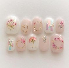 französische Nägel Schellack Form im Jahr 2020 Korean Nail Art, Korean Nails, Bridal Nails, Wedding Nails, Shellac, Cute Acrylic Nails, Cute Nails, Pastel Nails, Kawaii Nail Art
