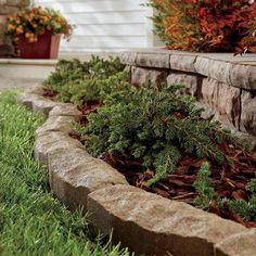 Concrete Patio Stone Lawn Edging.