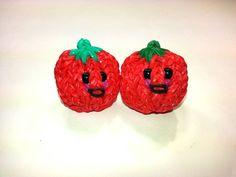 3-D Happy Tomato Tutorial (Rainbow Loom) by Feelin' Spiffy.
