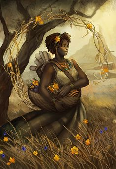 Virgo - Llewellyn Worldwide by *juliedillon on deviantART. I love her art, but of course I would like my astrology sign more than some of the others. :)